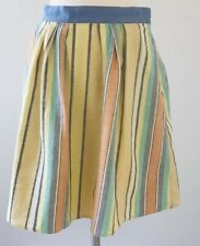 Anthropologie Odille Striped Linen Blend A Line Skirt Size 6