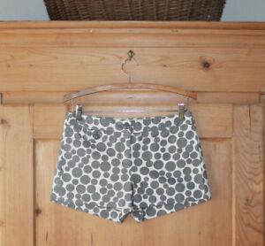 J.Crew~ Gray/White Polka Dots Shorts~ 100% Cotton~Sz 2~EUC