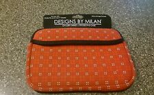 """Milan Neoprene 7"""" Tablet Sleeve-Case for Kindle Fire-Extra Storage Pocket-New"""