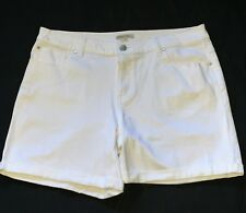 TARGET SIZE 16 WHITE BOYFRIEND JEAN SHORTS NEW WITH TAGS