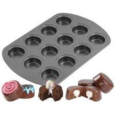 "Wilton 12 Cavity Spool Mini Cake Muffin Pan, 2.5"" Non-Stick & Dishwasher Safе"