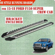 "15-18 FORD F150 Super Crew Cab 4.5"" Nerf Bar Running Board Side Step Chrome FJ"