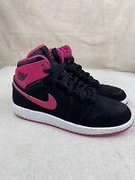Nike Air Jordan 1 Retro 2015 Girls Shoes Size 6Y Black/Pink (332148 008)