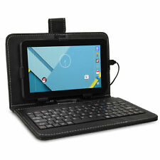 "Craig CMP834 7"" 8GB Android Tablet Quad Core w/Cams Black Keyboard Case - Bundle"
