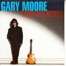 "GARY MOORE  Cold Day In Hell PICTURE SLEEVE 7"" 45 record + juke box strip RARE!"