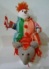 """Vintage Clown/Elephant Music Box ~ Plays """"I'd Like to Teach the World to Sing"""""""