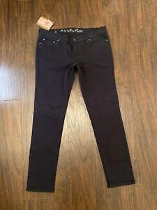 NEW! Originial RARE Juicy Couture Tracksuit Black Denim Skinny Jean 30