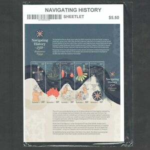 2020 Navigating History 250 years Endeavour 10 x 55c Gummed Sheetlet MUH/MNH