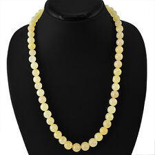 FINEST 370.00 CTS NATURAL UNTREATED RICH YELLOW AVENTURINE ROUND BEADS NECKLACE