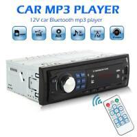 Single 1Din Car Stereo MP3 Player In Dash Head Unit Bluetooth USB AUX FM Radio