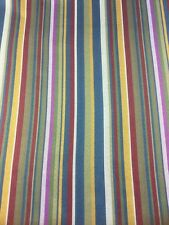 Multicoloured Stripe Fabric By The Metre