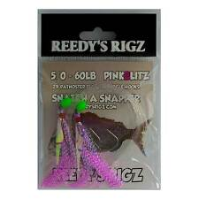 10 Snapper Rigs Flasher Rig 6/0 Hook Paternoster Bottom 60lb Reef Fishing Bait