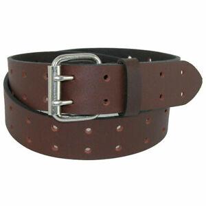 Dickies Men's Leather Double Prong Brown Belt (Waist: 36)
