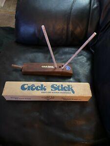 Vintage CUTLERY WORLD CROCK STICK 2 Rod Knife & Scissor Sharpener Sharpening Set