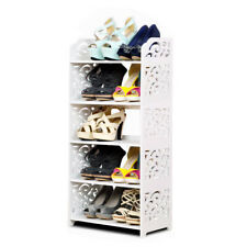 5 Schicht Schuhschrank Schuhablage weiß Schuhregal Schuhständer Klassik Regal