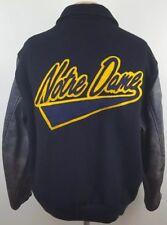 CHALK LINE NOTRE DAME NCAA College Basketball Vintage Snap Bomber Cowhide Sz Lrg