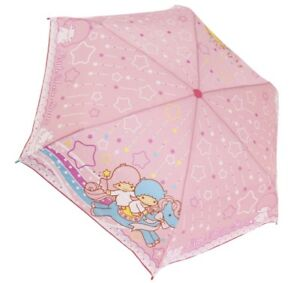 Sanrio Little Twin Stars Kikirara Pink Star Folding umbrella 53cm