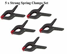 """5 x Strong Spring Clamps Set (225mm)9"""" Extra Large Plastic Stall Clip Workshop"""