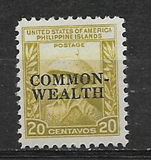 PHILIPPINES , USA , 1936/37 , COMMONWEALTH , 20c STAMP O.P.  PERF, MNH