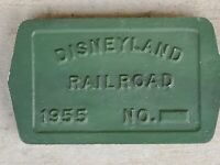 DISNEYLAND RAILROAD BOILER PLATE PLAQUE SIGN