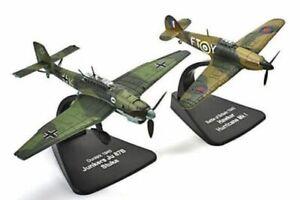ATLAS/OXFORD 1/72 FIGHTERS LUFTWAFFE JUNKERS JU87B STUKA/RAF HURRICANE MK1 1940