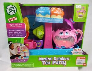 Leap Frog Musical Rainbow Tea Party With Rare Cake Stand