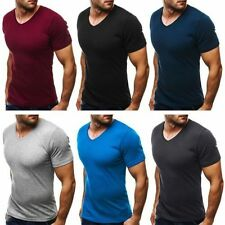 Big & Tall V Neck Fitted Singlepack T-Shirts for Men