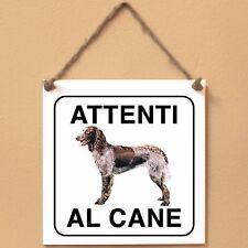 Epagneul de Pont-Audemer 2 Attenti al cane Targa cane cartello ceramic tiles