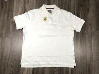 Beverly Hills Polo Club Mens Polo Shirt Short Sleeve White Size XL 59786 White