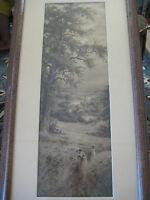 "Vintage Print With Frame, 20"" X 6 3/4""(Print), 27"" X 14"" (Frame)"