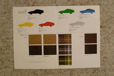 1977 Porsche 924 FACTORY issued Color Chart Showroom Sales Folder Awesome L@@K