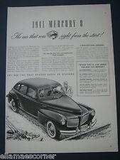 Vintage 1940 Mercury 8 Original Print Ad