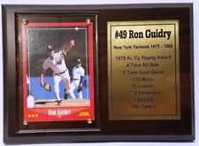 New York Yankees Ron Guidry Topps Baseball Card Plaque