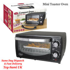 Quest Mini Toaster Oven Table top grill window, 9 Litre Capacity, Black