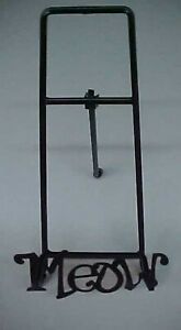 New Metal Photo Frame Holder Easel For Cat Pictures With MEOW