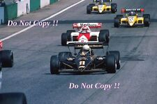 Elio De Angelis JPS Team Lotus 95T Austrian Grand Prix 1984 Photograph 5