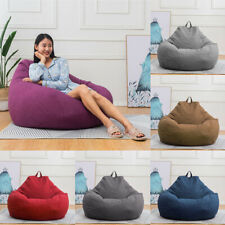 Bean Bag Chair Sofa Cover Lazy Lounger Comfy Cover Indoor Outdoor for Kids Adult
