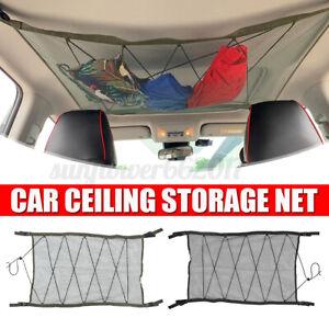Portable Car Ceiling Storage Net Pocket Roof Interior Cargo Pouch Organizer