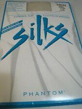 Pantyhose SILKS By Phantom Comfort Control Top Sheer Silky B Oyster NIP Canada