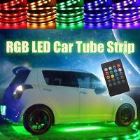 4x 8 Couleur Voiture Sous Châssis LED Bande Flexible Néon Lumière + Télécommande