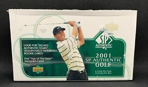 2001 SP Authentic Golf Hobby Box - Factory Sealed - Tiger Woods Auto Rookie Rc