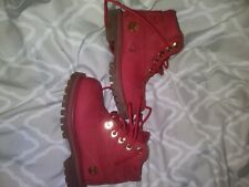Toddler timberland boots size 6 red Limited