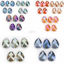 20pcs Muliticolor Transparent Acrylic Beads Imitation Crystal Pendants 13*12mm