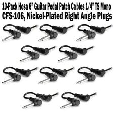 "10-Pack Hosa 6 Inch Guitar Pedal Right Angle Patch Cable 1/4"" Cord Inch NEW"
