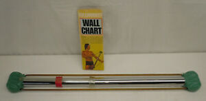 Vintage BullWorker 2 Isometric Tensolator Exercise Power Bow with wall chart