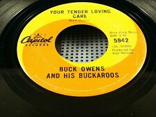 BUCK OWENS - Your Tender Loving Care / What A Liar I Am - 1967 VG+ Canada Press