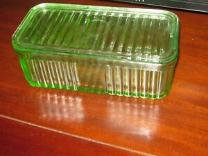 DEPRESSION GLASS LARGE CONTAINER