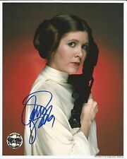 Hand Signed 8x10 photo CARRIE FISHER as PRINCESS LEIA in STAR WARS + my COA