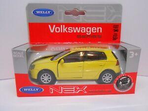 TOY CAR VW POLO YELLOW MODEL BOY GIRL DAD BIRTHDAY PRESENT GIFT NEW