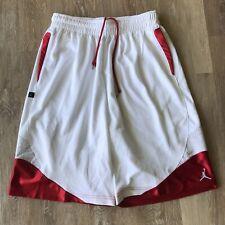 NIKE JORDAN RETRO 3 JUMPMAN SHORTS RED WHITE RARE NEW (SIZE M )